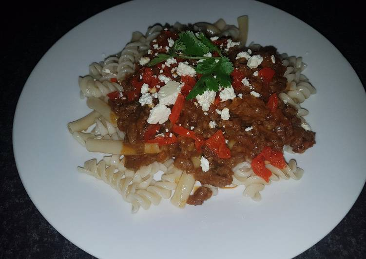 Beef mince and pasta