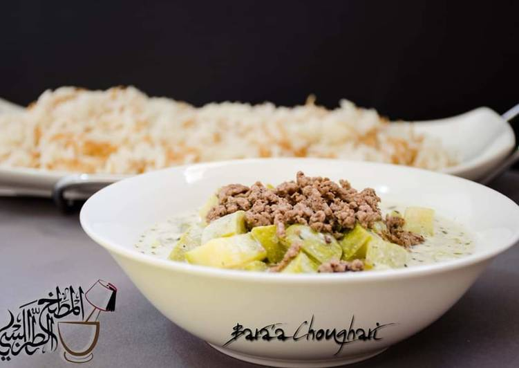 Recipe of Award-winning Zucchini_and_meat_yougurt_stew #Khyariyeh