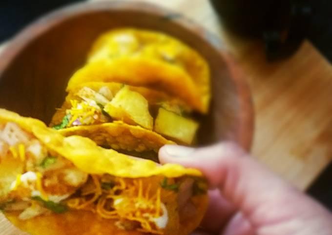 Recipe: Appetizing Potato chat tacos