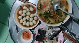 Hình ảnh món Trứng Cút Sốt Cà Chua + Canh Chua Đầu Cá Hồi