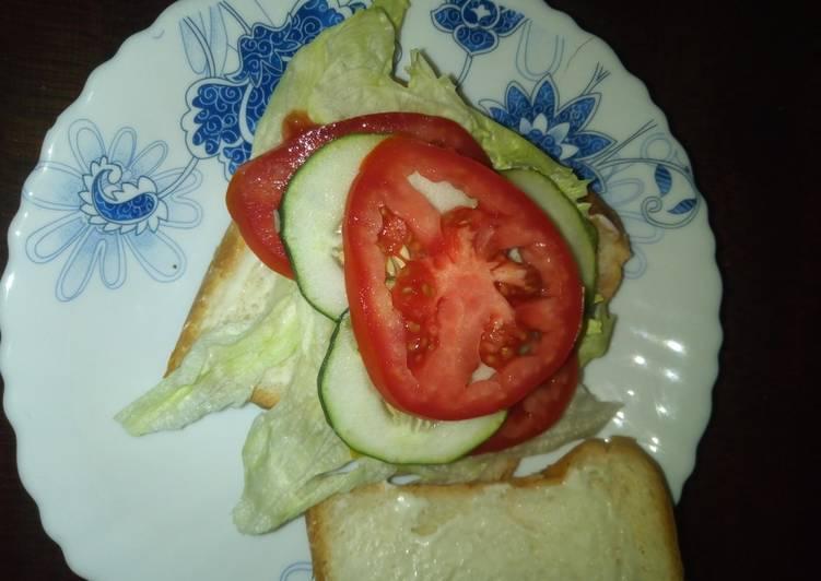 Easiest Way to Make Favorite Lettuce sandwich #4weeksChallenge