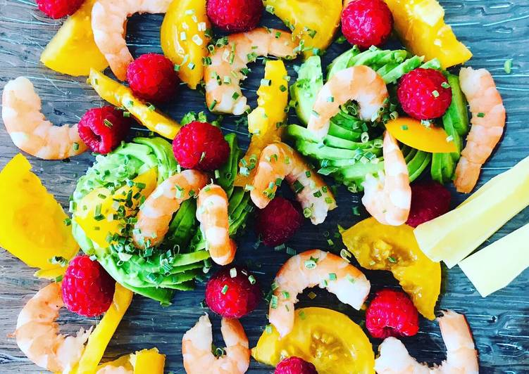 Salade fraîcheur avocat crevettes