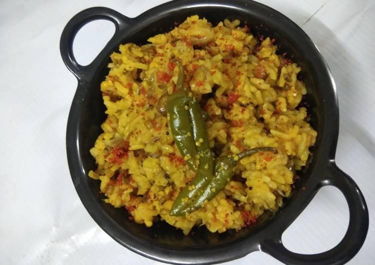 Recipe of Any-night-of-the-week Red Lentil (Masoor Dal) Khichadi