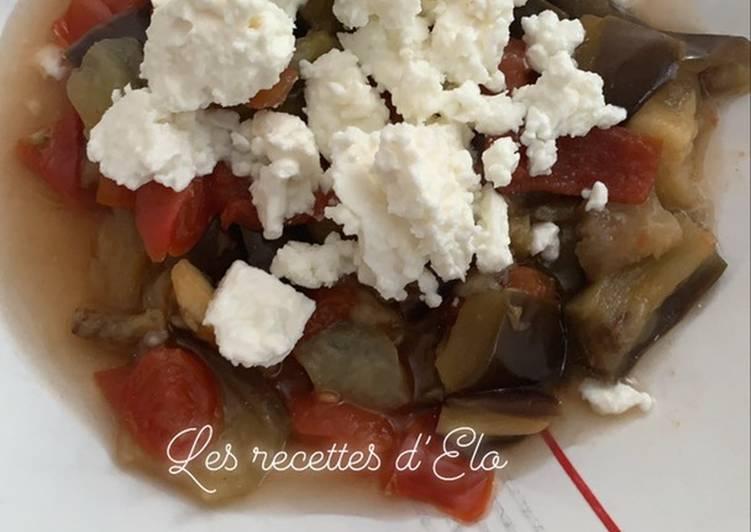 Aubergines à la grecque au Cookeo