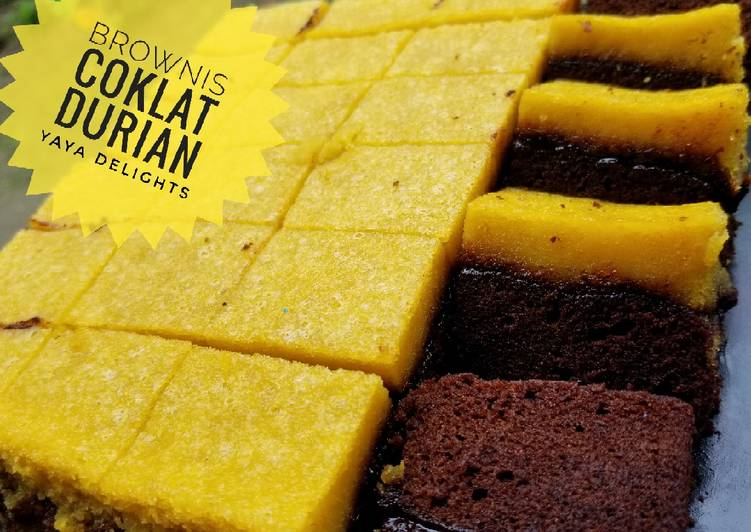 Brownis coklat durian