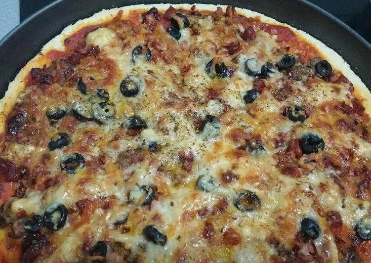 como hacer masa de pizza tipo dominos