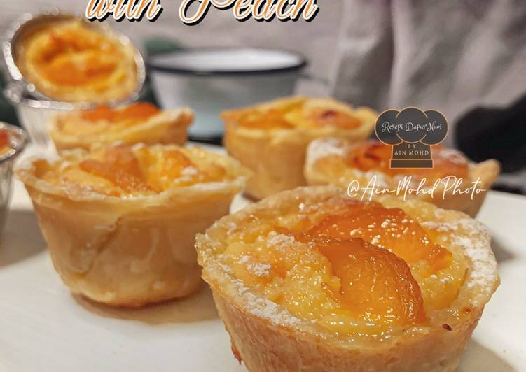 Pastry Egg Tart With Peach