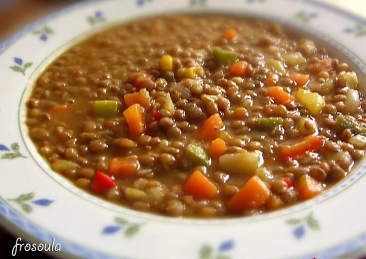 Multicolored lentils