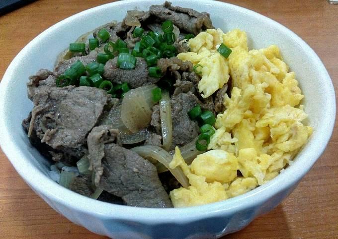 Resep Beef bowl ala yoshinoya HALAL oleh Edi Kruise - Cookpad
