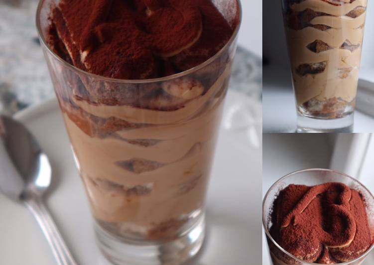 Recipe of Perfect Tiramisu' in Glass (No Eggs)