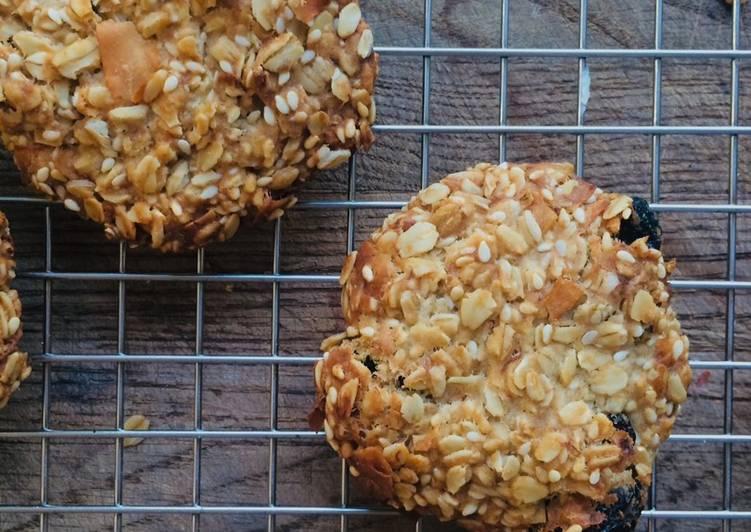 Szybkie wegańskie ciasteczka owsiane