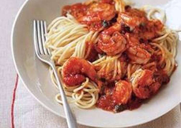 Pasta with Shrimp and Fresh Tomato Sauce