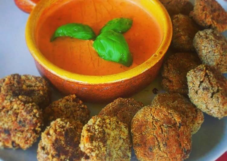 Ricetta Polpette di Melanzane al forno con Salsa di Pomodorini arrosto al Basilico