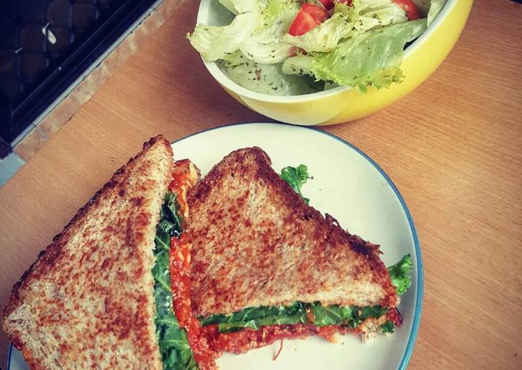 Bolognese Sandwich with Simple Salad
