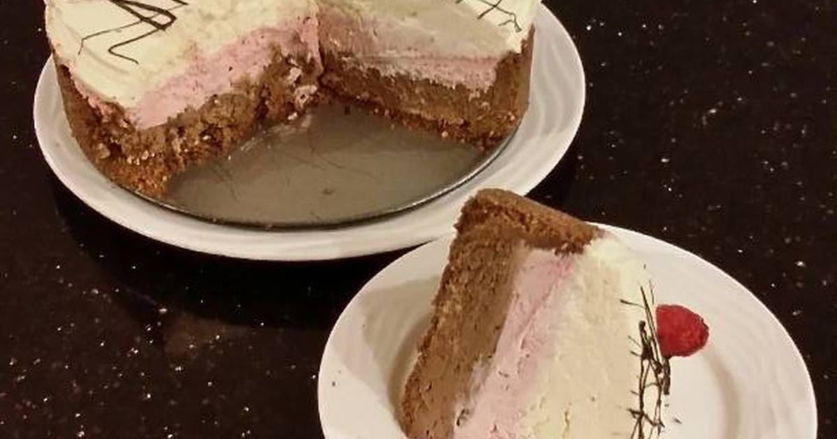 Chocolate / Rasberry / White Chocolate No Bake Cheesecake
