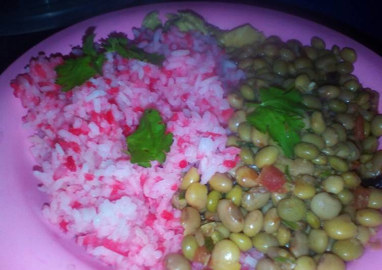 Easiest Way to Prepare Ultimate Rice and green peas