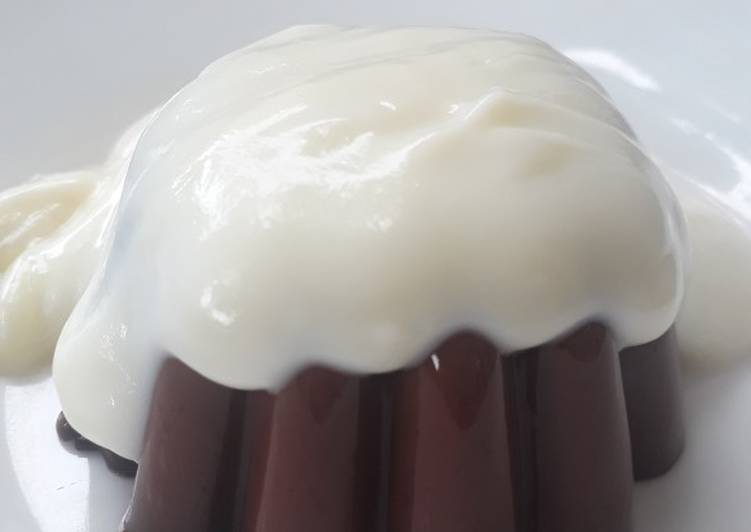 Milky Chocolate Pudding with Vanilla Vla