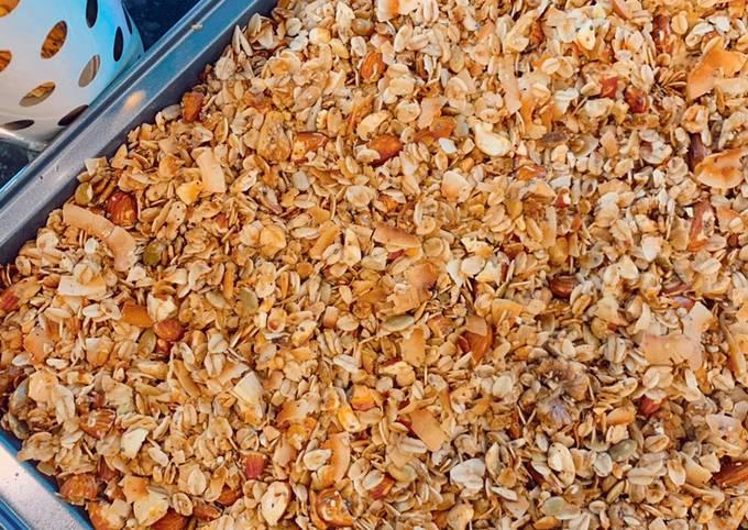Healthy Nutty Granola Recipe