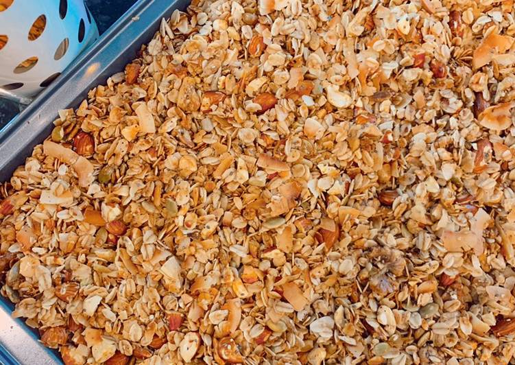Healthy Nutty Granola Recipe