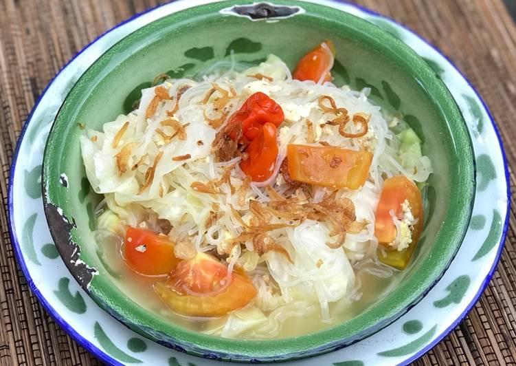Resep Bihun jagung kuah, rendah kalori Terenak