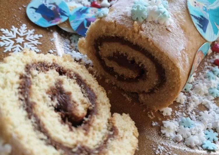Recette Savoureux Gâteau roulé cœur chocolat