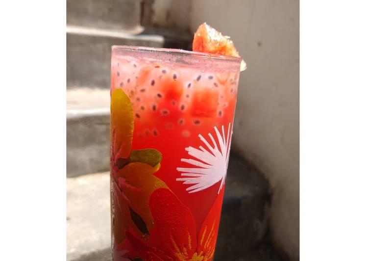 How to Prepare Homemade Watermelon chatpata sharbat