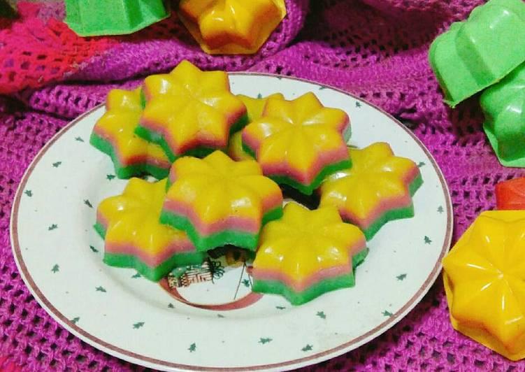 Kue Lapis Tepung Beras Rainbow Versi Cetakan - cookandrecipe.com