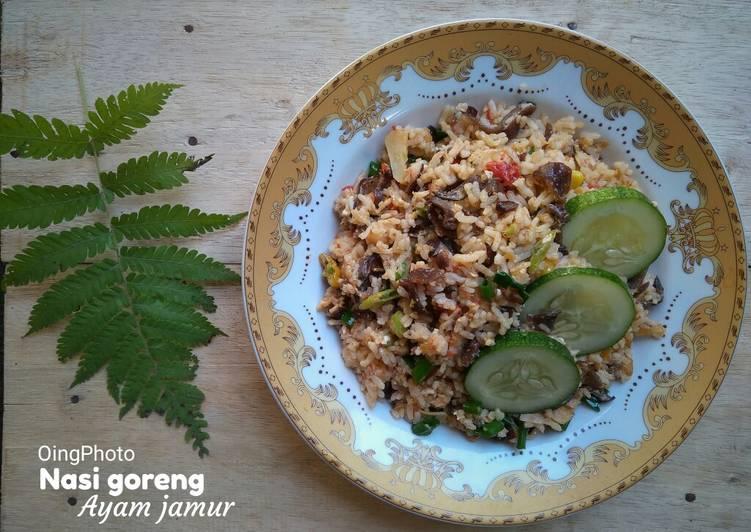 Bagaimana Menyiapkan Nasi goreng ayam jamur Bikin Manjain Lidah
