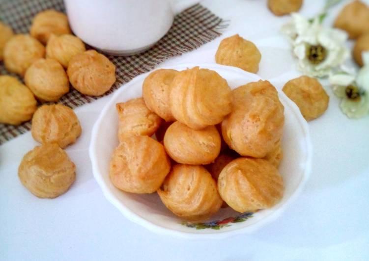 Resep Sus Kering Keju a.k.a Cheese Crispy Choux Anti Gagal