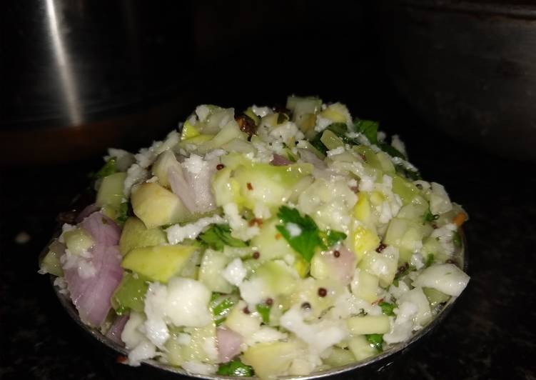 Recipe of Super Quick Homemade Cucumber Kosambari / Salad