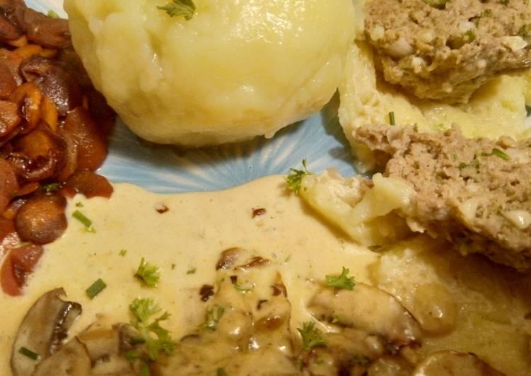 Kartoffelklöße mit Hackfleischkern