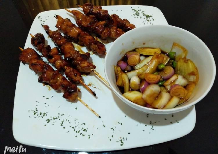 Sate ayam teflon rasa Teriyaki - cookandrecipe.com