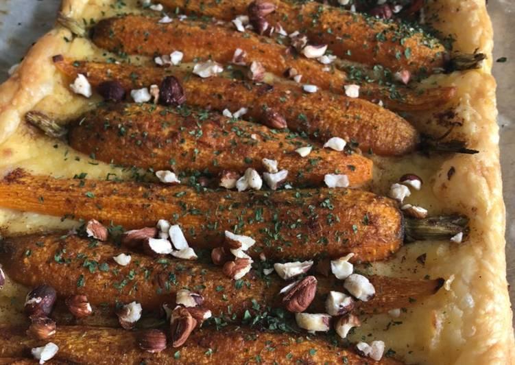 La Meilleur Recette De Tarte fine carotte et lemon curd salé