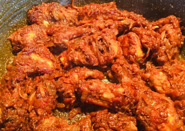 Simple Way to Make Award-winning Spicy naga chicken