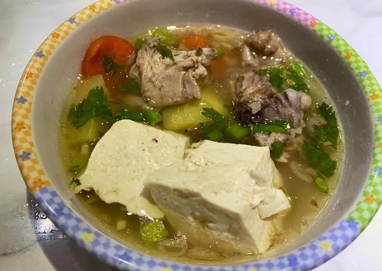 Sop Ayam untuk anak2 (MPASI 18bulan)
