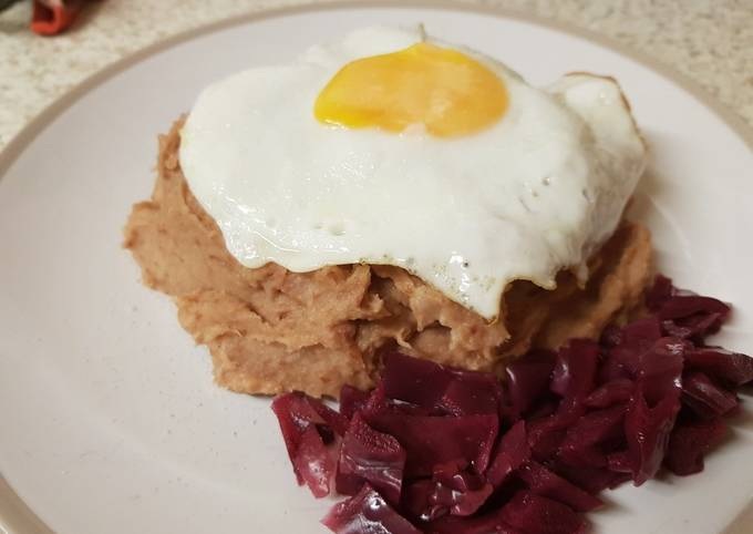 Corned Beef Hash with a fried egg on top