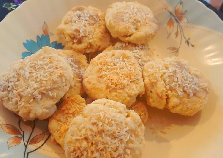 How to Prepare Quick Shortbread cookies filled with orange zest and coconut. 😀