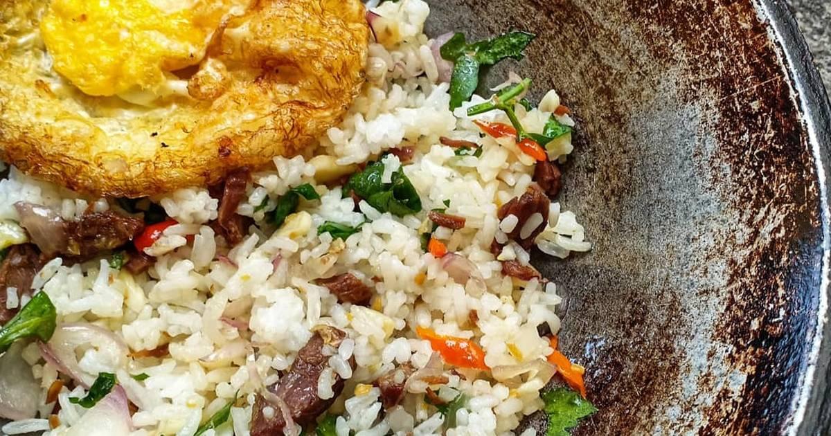 resep nasi goreng pedas  kecap enak  sederhana ala rumahan cookpad Resepi Nasi Goreng Tanpa Bawang Merah Enak dan Mudah