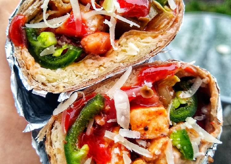 Simple Way to Make Top-Rated Mini Chilli Chicken Burrito