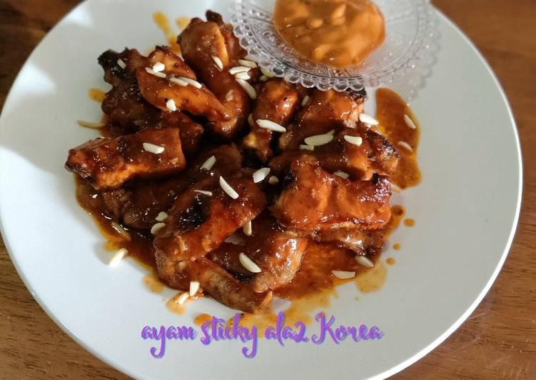 Ayam sticky ala2 korea - velavinkabakery.com