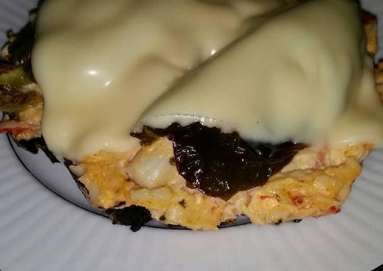 Recipe: Yummy Brad's jalapeño crab dip stuffed portabello