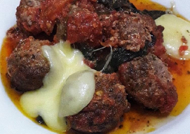 Cara mudah membuat 40. Italian Meatballs With Mozzarella Cheese (Keto Friendly)