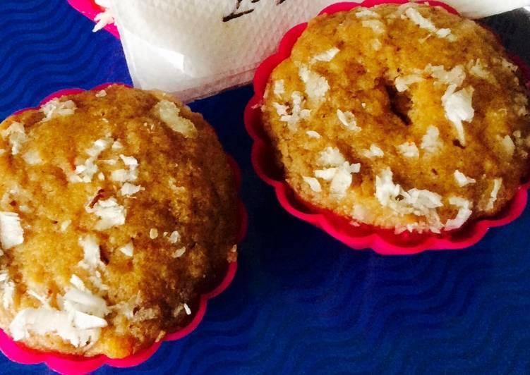 The Best Dinner Ideas Award Winning Eggless oats pumpkin muffins.
