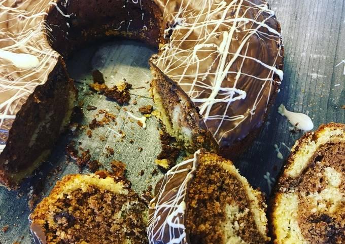 Marmorkuchen mit Schokoladen Chunks