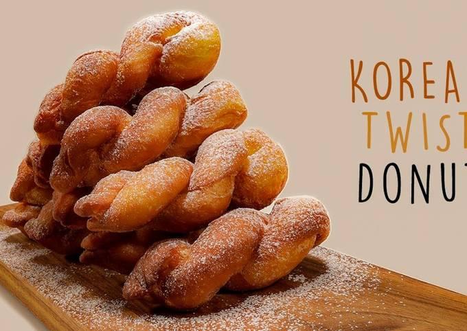 How to Make Korean Twisted Doughnut