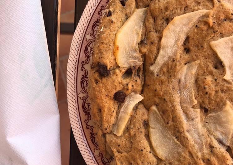 Ricetta Torta senza glutine light integrale pere e gocce di cioccolato