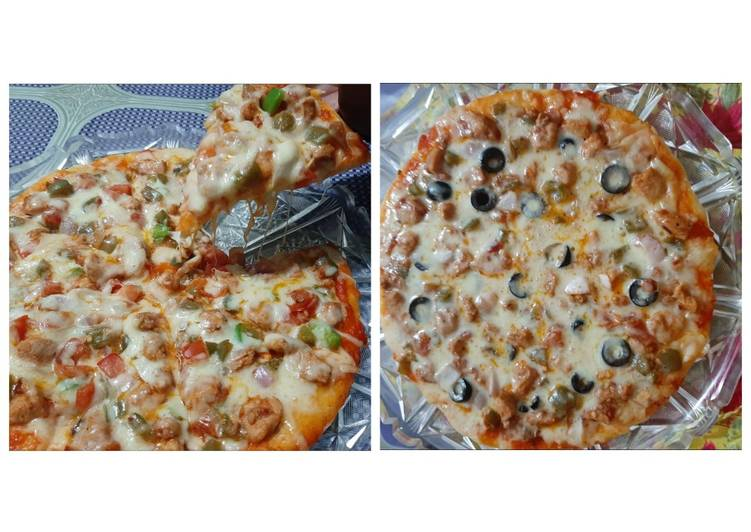 Living Greener for Good Health By Dining Superfoods Chiken fajita pizza without oven🍕