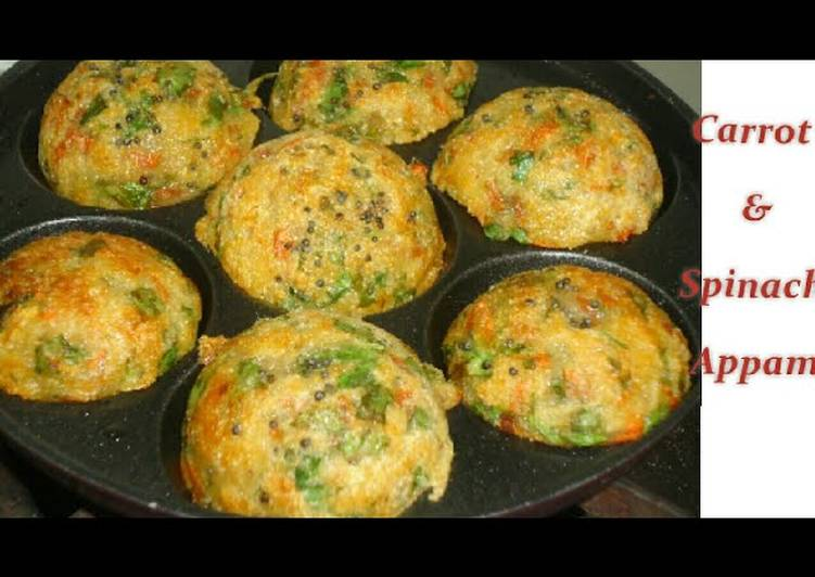 Palak and carrot appam