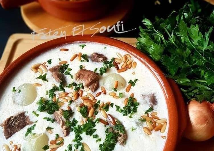 Step-by-Step Guide to Make Favorite Lebanese_lamb_cooked_in_yogurt #Shakriya_laban_emmo