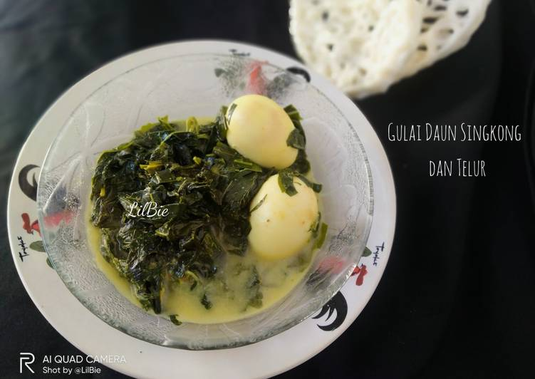 Gulai Daun Singkong dan Telur